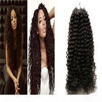 100 шт. Cinky вьющиеся волосы Micro BBEAD расширения микро звена наращивания волос человека 100 г Virgin Poot Extension наращивание волос с кольцами