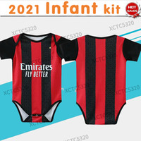 2021 Milan Baby Kit Infantil Fútbol Jersey # 11 Ibrahimovic # 19 Theo Baby Home Soccer Shirts Uniformes de fútbol personalizados