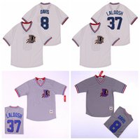 Moive Bull Durham 1988 Baseball 8 Bater Davis Jersey 37 Nuke LaLoosh pulôver Equipe Cinza Cor Branco Refrigere Base de Tudo costurado de alta qualidade