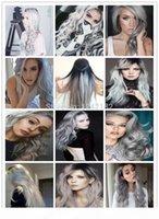 Micro-boucle Bague Links Remy Stroit Silver Grey Grey Hair Extensions de cheveux 100g Lot 1G Strand Vierge Vierge Brésilienne Extension de cheveux