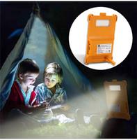 휴대용 LED 태양 전원 조명 야외 충전 긴급 캠핑 텐트 Waterpfoor 다기능 배낭 램프 안뜰 조명