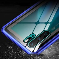 Двухсторонний стеклянный магнитный металлический чехол для Huawei Mate 40 20 P30 P20 P40 E Lite Y5 Y7 Y6P Honor 20 8x H SQCYBG