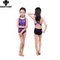 Hxby Crianças Swimwear Menina Swimsuit Mulheres Um Peça Swimwear Swimwear Profissional Natação Ternos Banheira Terno Meninas Mulher1