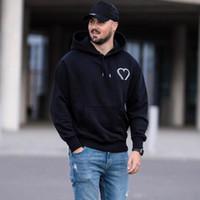 20FW Herz Stickerei Hoodies Street Männer Frauen Mit Kapuze Pullover Feste Sweatshirt Mode Herbst Winter Pullover Hoodie Hfymwy613
