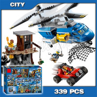 325pcs City Mountain Arrest Police Helicopter Buggy Figure Building Blocks 10863 Assemble Kids Toys Compatible with X0102