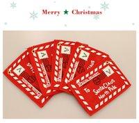 Бесплатная доставка Рождественская елка Подвеска Нетканые Рождество Конверт Креатив карты украшения Свадебные Рождественские украшения Красный конверт F7303