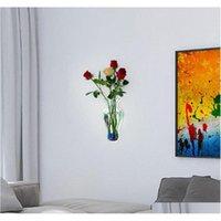Nuovo vaso decorazione della parete serbatoio di pesce specchio acquario acrilico decorazione della decorazione domestica accessori fai da te vasi floreale w qyloei homes2011