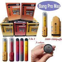 Bang Pro Max 스위치 일회용 vape 펜 2 in 1 Kit Vape 5ml + 5ml 포드 2000 퍼프 Bang Xxtra 더블 일회용 vapes 새로운 도착