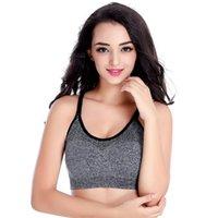 النساء اللياقة البدنية اليوغا الرياضة الصدرية مبطن رفع الإناث الدانتيل المحاصيل الأعلى رياضة القمصان الرياضة حمالة القمم الصدرية سلس kg-606