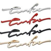 금속 터보 엠블럼 자동차 스타일링 스티커 바디 뒷 테일 게이트 배지 포르쉐 911 Boxster Cayman Panamera Cayenne Macan 997 996