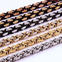 Мужские ожерелья Цепи Черного Золота тона нержавеющей сталь византийские цепи ожерелье для мужчин Ювелирных изделий способа подарок 5/6/8 мм