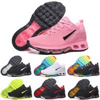 Nike Air Max 360 caliente Tn niños corriendo 2018 Zapatos Blanco Negro Aire Cusion deporte de los niños zapatos de niño entrenador del arco iris del muchacho y de la zapatilla