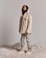 VENDITA CALDA shirt Feaar Off Buono 6 ° FG Nero Tooling Suede Jacket Donna Uomo Coppia Via Hip Hop Outwear Cappotti casual caldo allentato Streetwear