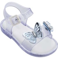 Летние сандалии для девочек бабочка бабочка утечка 2020 ног пляж детский мини мелисса желе Шо