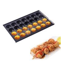 18 Delik / 28 Delik Ticari Takoyaki Makinesi Makinesi Yapışmaz Pişirme Pan Plaka Döküm Alüminyum Ahtapot Topu Köfte Ocak Izgara T200111