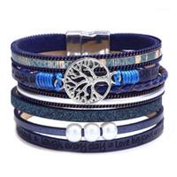 Bracelets de charme Kirykle Womens Boho Wrap cuir multicouche large large arbre de vie bijoux pour femme adolescente fille1