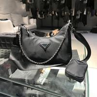 Massivfarbverbundbeutel für Frauen 2020 Neue Trend Mode Drei-in-One-Nylon-Tasche Damen Geldbörsen und Handtaschen Luxus Sack Luxe CC C0121