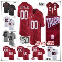 Personalizado 2021 Alabama Carmesim Maré Futebol Jerseys Bryce Young Dylan Moisés Brian Robinson Jr. Jase McClellan John Metchie III Tagovailoa 5xl