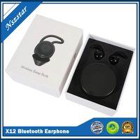 X12 TWS 블루투스 이어폰 노이즈 감소 무선 이어폰 3D 완벽한 사운드 헤드폰 블루투스 충전 상자 수면 이어폰 DHL 빠른
