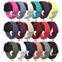 Сплошной цвет силиконовый ремешок Замена диапазона вахты для Fitbit Versa 3 Fitbit Sense Смарт часы Регулируемая оптовой Solo Loop Strap