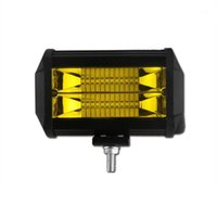 Other Lighting System 72W Car LED Work Light Lamp Offroad Boat Motorcycle SUV Driving Yellow Floodlight Spotlight 12V 24V1