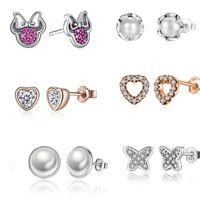 925 Sterling Silver Small stud Earrings for Children Girls Kids Baby Jewelry,earrings for women fashion Children jewelry