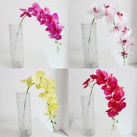 93cm Décorations de mariage Fleurs artificielles Single en plastique Soie Fleur Polyester Fibre de Polyester Fleurs Orchidées Orchidées Accueil Partie Chaude Vente 4 9SM G2
