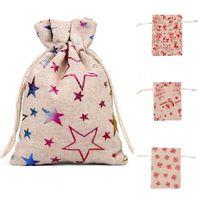 2020 Sac en tissu Boule de Noël des oiseaux Elk Snowflake étoiles Santa Sacks bonbons colorés Accueil cadeaux Bijoux Pouch 0 8rh2 G2