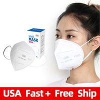 Yüksek Performans 5ply KN95 Yüz Maskesi Mascarillas KN95 GB2626 2006 Maske Bez Yüz Kalkanı Maske Beyaz KN95