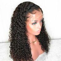 페루 곱슬 가발 5 × 5 PU 실크 맨 위로 레이스 폐쇄 가발 사전 뽑아 천연 헤어 라인 1백80% 변태 곱슬 인간의 머리 가발 여성