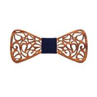 Nuove papillon legno floreali per Uomini Bowtie Hollow farfalle Wedding shirt papillon legno krawatte Bowknots Slim cravatta