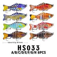 10cm 15.61g Pesca LURE PLÁSTICO FUERTE DURO MULTI-SECTORE PESCADO BIONICO BAIT HS033 Carpa Bajo rayado Pesca Pesca Tackle Jllsun