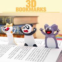 Lesezeichen 3D Stereo Cartoon Marker Tier Lesezeichen Original Nette Katze PVC Material Lustige Student Schul Schreibwaren Kinder Geschenk