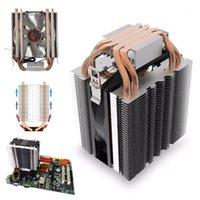 Fans Kühlungen 4 stücke Heatpipe Kühler Blau LED Hydrauliklager CPU Kühler Lüfter Kühlkörper für Intel LGA1150 1151 1155 775 1156 AMD Kühlung1