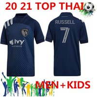 2020 Sporting Kansas City Soccer Jersey 20/21 # 9 Pulido # 11 Shelton Russell Omegle Mens # 17 Kinda # 19 Hurtado Gutierrez Shirts