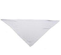 2021 Банданас Сублимационные пустые белые DIY полиэстер домашнее животное треугольник шеи шарф теплопередача