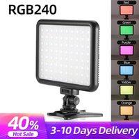 Cabezas flash Sutefoto DSLR Cámara LED Video Luz con zapato frío RGB Filtro Smartphone Vlog Rellenar en la cámara Pografía Estudio