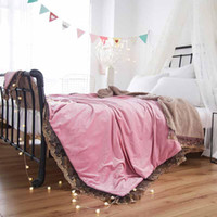 Embroidery Lace Winter Thicken Baby Adult Scarf Ferret Cashmere Blankets On Sofa Bed Plane Blanket Throw Travel Fleece Warm Soft