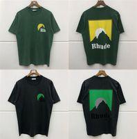 RHUDE T-Shirt Erkek Kadınlar Japonya Yüksek Kalite RH Hairstyle Baskı Üst Tees Yaz Tarzı Rhude Rhude T Shirt X1227