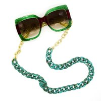 New Arrival Fashion Green Acrylic And Golden Metal Chain Mix...