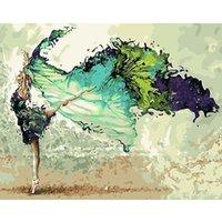 Живопись по номерам DIY Dropshipping 40x50 60x75см летающие мечты танцующие молодежь фигура холст свадебное украшение художественное изображение подарок LJ200908