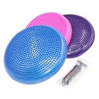 Aufblasbare Yoga Balanced Ball Fitness Massage Platte Cushion Stability Disc Wobble Pad Sprunggelenk Knie Brett Kissen Matte mit Pump