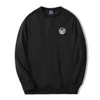 남성 패션 스웨터 스웨터 까마귀 재미있는 환경 보호 지구 미소 거리웨어 캐주얼 가을 스포츠웨어 KG-373