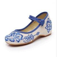 Scarpe casual per bambini Ragazze antiche Pechino scarpe da stoffa Tang costume da ricamo fiore etnico ragazze per prestazioni scarpa da ballo1