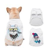 Сублимационные пустые белые DIY Pet Dog без рукавов тонкий жилет маленький домашний теплопередача печати Pet T-футболка LLA302
