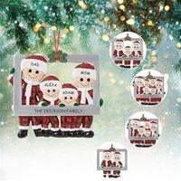 2020 Family Christmas Decoration Christmas Tree Pendants Hanging Ornaments Diy Santa Claus Gift Greeting Card Home Decor