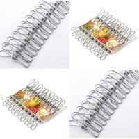 Vestuário de aço inoxidável clipes peúgas fotos pendurar peças de rack de roupas portáteis clipes de roupa de aço inoxidável pegs frete grátis 85 p2