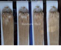 "Lummy Remy Micro Ring Loop 100 % 인도 인간의 머리카락 확장 16 ""-26""1G S 100G 팩 컬러 # 2 가장 어두운 갈색과 # 613 표백제 금발"