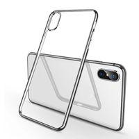Cassa del telefono mobile adatta a cassa del telefono mobile IP 12mini ip 11 pro XsMax max anti-goccia ultra-sottile guscio morbido trasparente