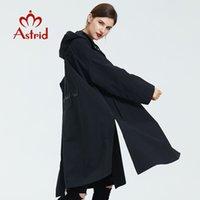 Astrid trench casaco mulheres com capuz plus size de alta qualidade windbreaker moda gótico longo solto adequado para todos casaco lj201128